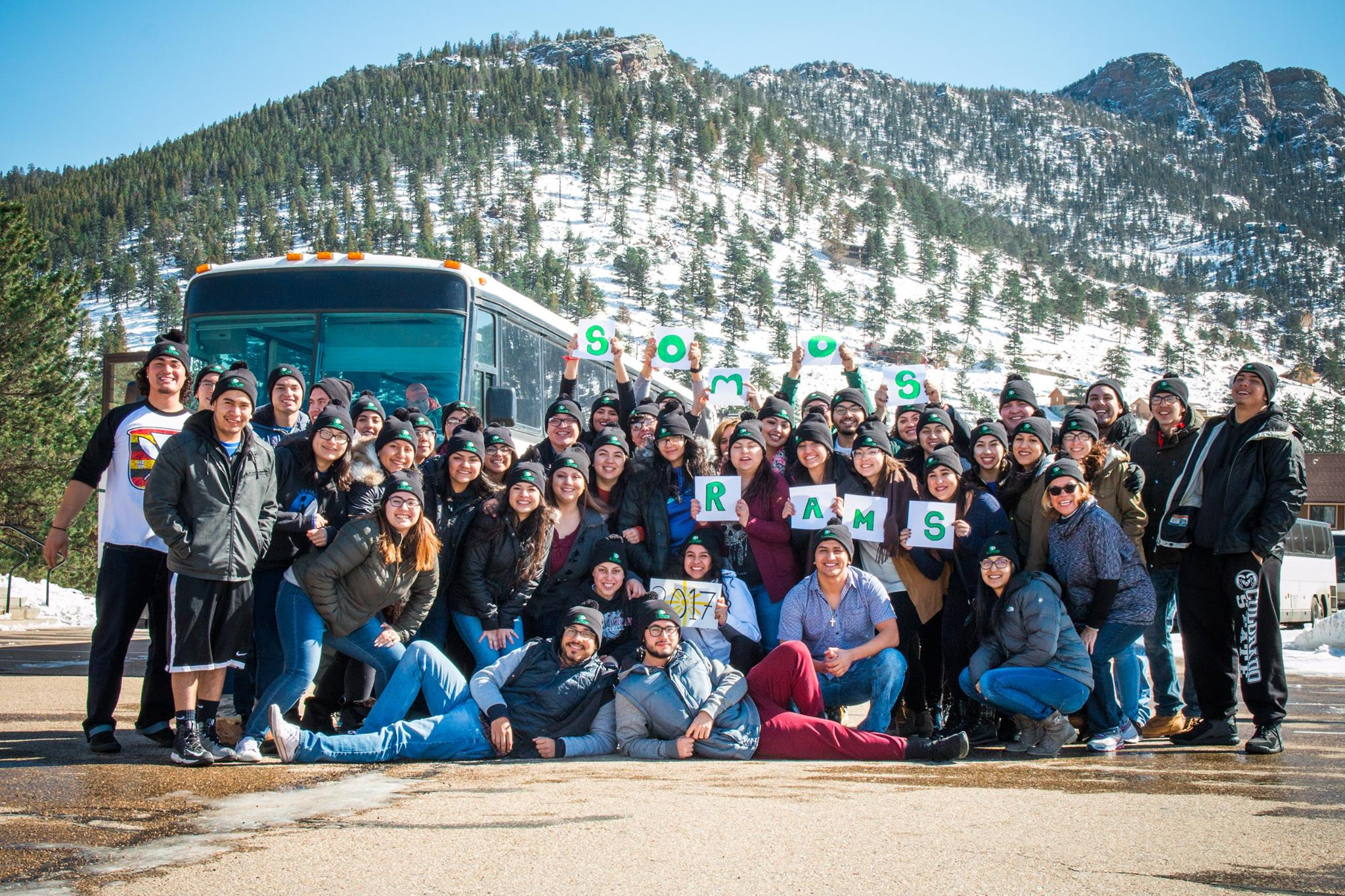 El Centro students in the mountains
